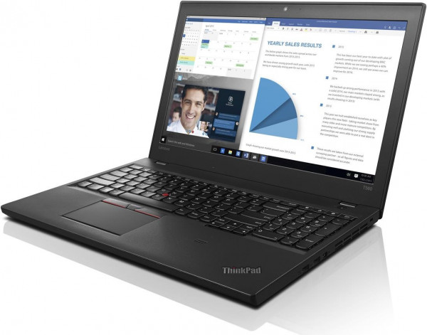 Lenovo ThinkPad T560 - 15,6 Zoll - Core i7-6600U @ 2,6 GHz - 8GB RAM - 256GB SSD - FULLHD (1920x1080) - Webcam - Win10Pro