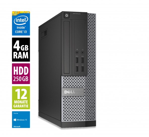 Dell Optiplex 7010 SFF - Core i5-3470 @ 3,2 GHz - 4GB RAM - 250GB HDD - DVD-RW - Win10PRO