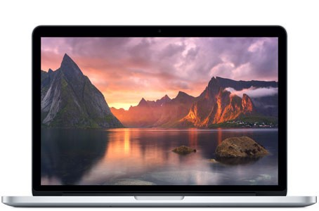 MacBook Pro A1398- 2910 - Core i7 - 4870HQ @ 2,5GHz - 16GB RAM - 500GB SSD - OS X El Capitan