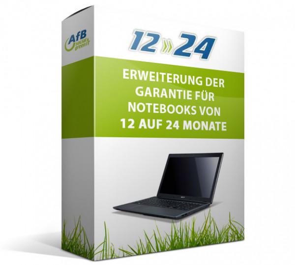Erweiterung der Garantie für Notebooks von 12 auf 24 Monate