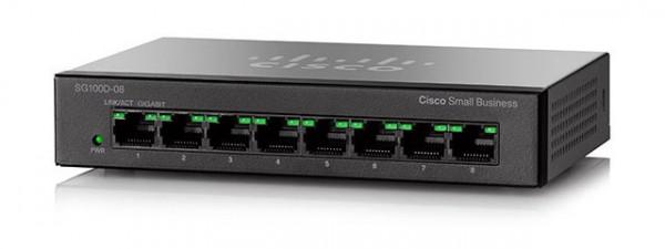 Cisco SF100D-08P 8-Port 10/100 PoE Desktop Switch