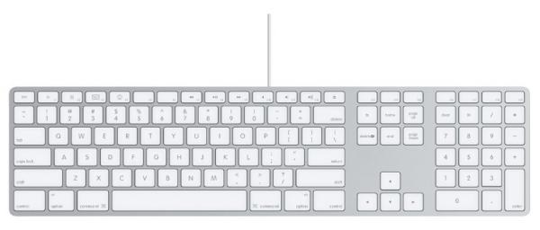 Apple Tastatur MB110LB/B mit Ziffernblock - US-Layout - NEU